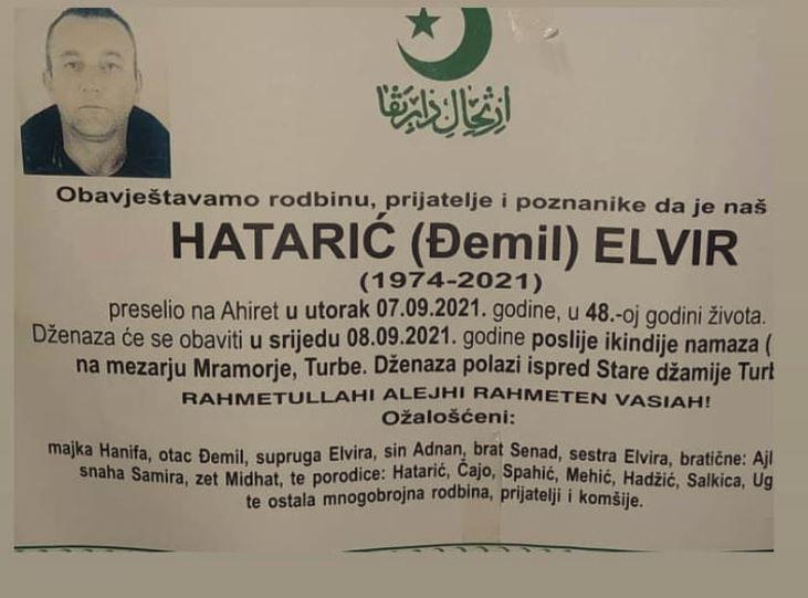 Preminuo Elvir Hatarić