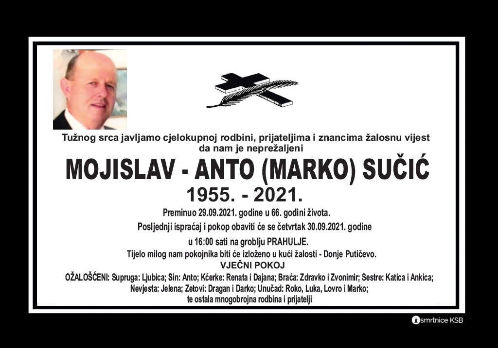 Preminuo Mojislav - Anto Sučić