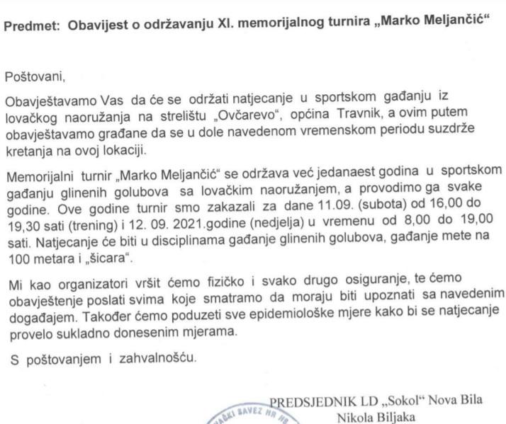 """Za vikend XI. Memorijalni turnir """"Marko Meljančić"""""""