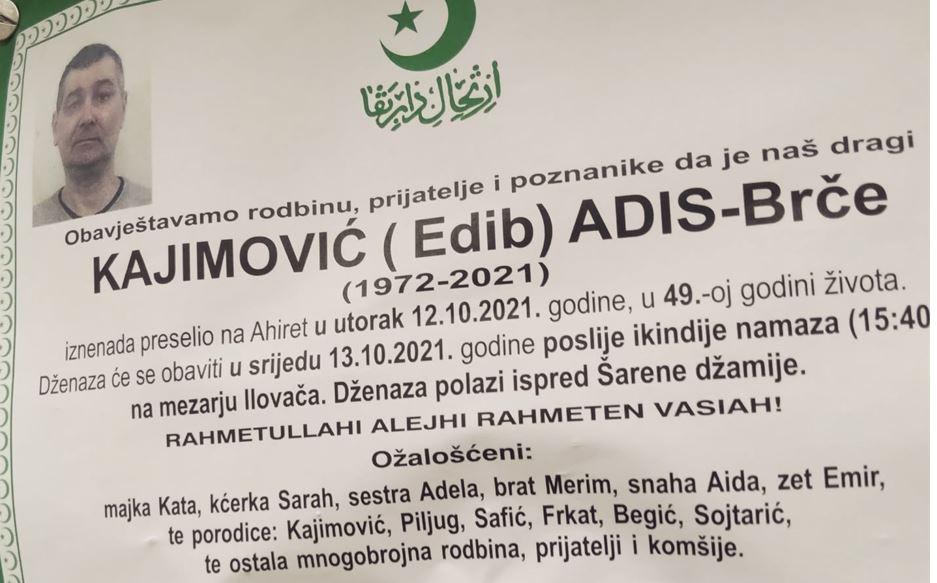 Preminuo Adis - Brče Kajimović