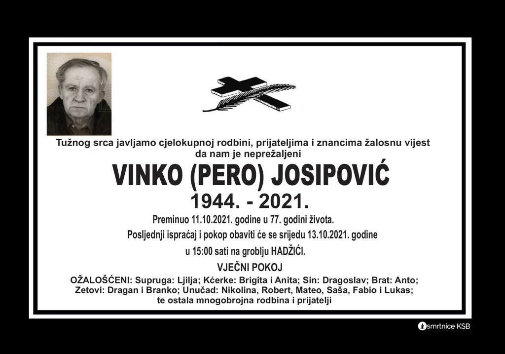 Preminuo Vinko Josipović